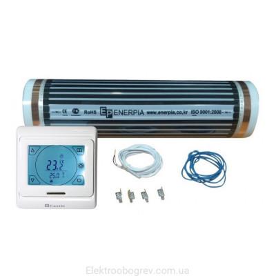 Нагревательная инфракрасная пленка Enerpia комплект с терморегулятором Castle 9.716 (6.5 м2)