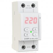 Реле напряжения Zubr D2-40 red