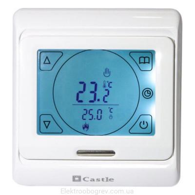 Терморегулятор для теплого пола сенсорный Castle M 9.716, белый