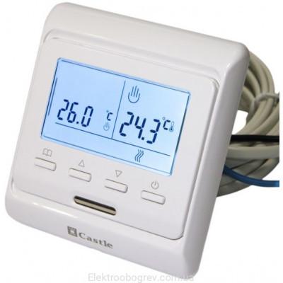 Терморегулятор для теплого пола программируемый Castle M 6.716, белый