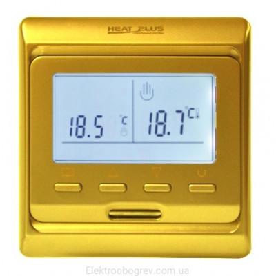 Терморегулятор для теплого пола Heat Plus M6.716 Золото
