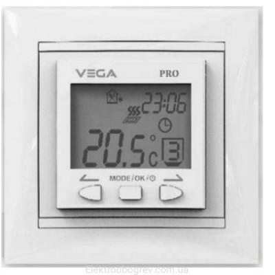 Терморегулятор для теплого пола VEGA 090, белый