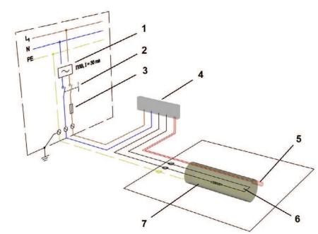 Схема подключения кабеля Woks 30T